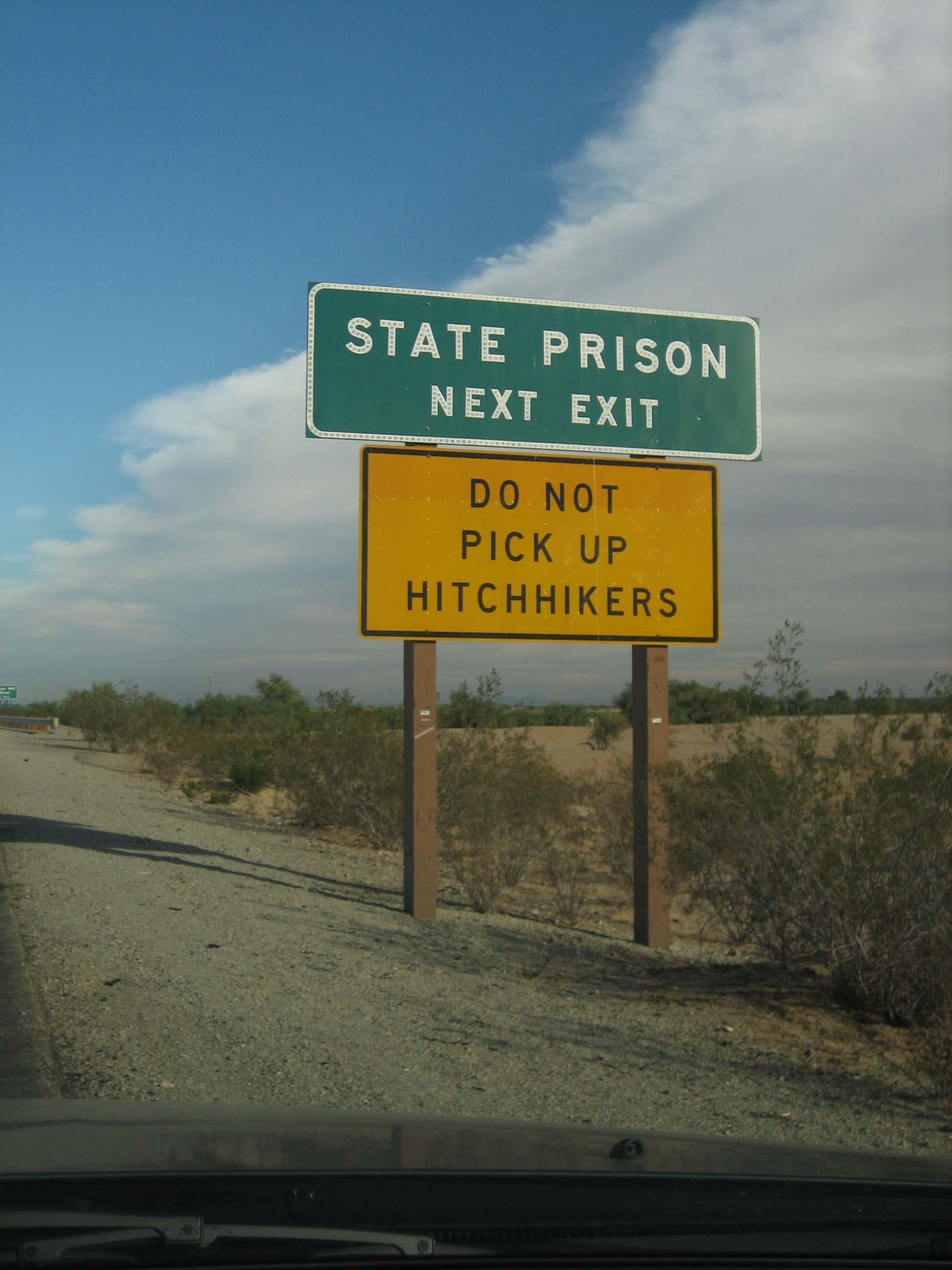 State Prison sign.